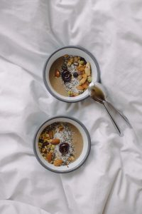 Smoothie Bowl on Bed